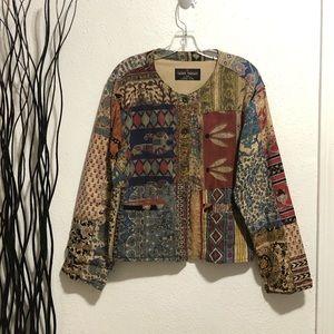 Sacred Threads Button Down Boho Jacket Size M